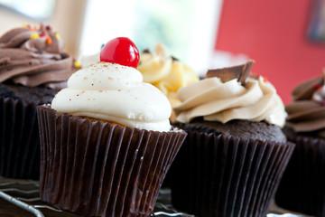 Gourmet Cupcakes Closeup