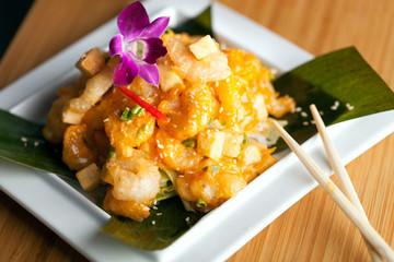 Tasty Tempura Thai Shrimp Plate