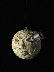 spacecraft and moon