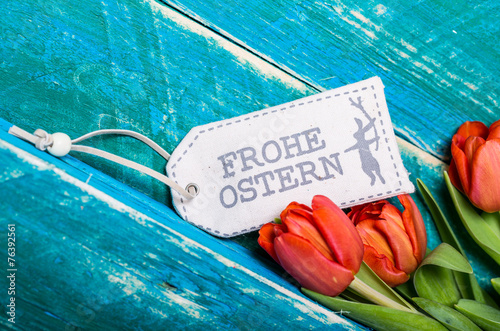 canvas print picture Frohe Ostern