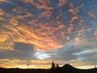 canvas print picture - Glühende Wolken