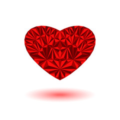 Heart of the 3d triangle elements, Valentine is Day background