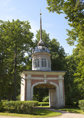 Oranienbaum.Entrance honourable gate of emperor Pyotr III..
