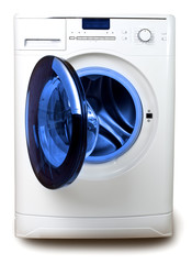 The washing machine on a white background..