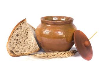 natural clay pottery pot