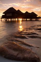 Maldives sunset.