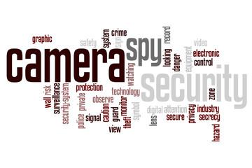 surveillance camera word cloud concept