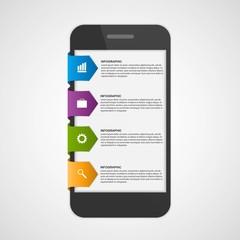 Mobile Infographic design concept. Design elements.