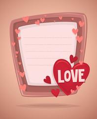 Happy Valentine's day invitation card
