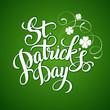 St. Patrick's Day greeting. Vector illustration