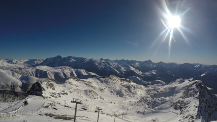 Sunny day in the French Alps, Alpe d'Huez