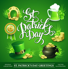 St. Patrick's Day Set of vector illustrations