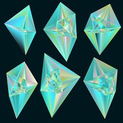 Gems. Vector set.