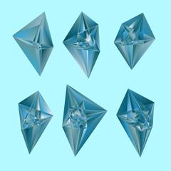 Vector diamonds on blue background.
