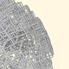 Abstract geometrical 3d background. Urban design.