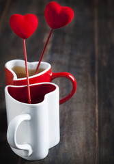Two cups of tea  for Valentine's day