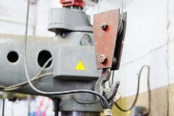 crane in the steel shop