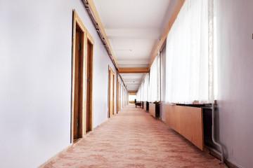 Image of the long corridor Motel