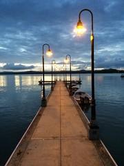 fishing pier at Hucares