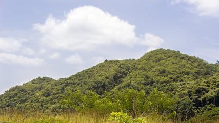 Detail of a mountain range