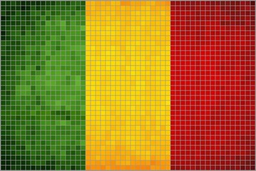 Abstract Mosaic Flag of Mali