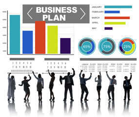 Business Plan Graph Brainstorming Strategy Idea Info Concept