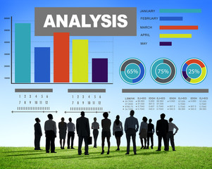 Analysis Analyzing Information Bar Graph Data Statistic Concept