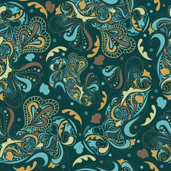 Ethnic blue pattern