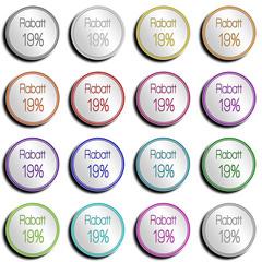 Button Minimal 19 PROZENT Mehtwertsteuer