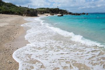 沖縄のビーチ・宮城島・上原の浜