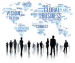 canvas print picture - Global Business World Commercial Business People Concept
