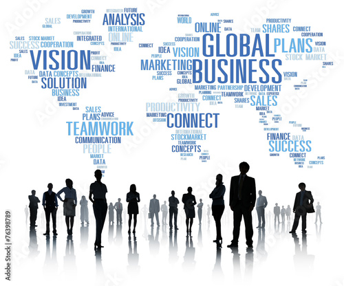 canvas print picture Global Business World Commercial Business People Concept