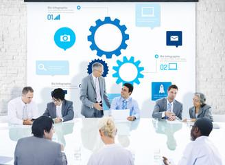 Business People Corporate Meeting Presentation Teamwork Concept
