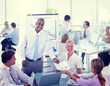 Group of Business People Meeting in the Office Concept