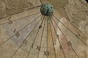 sun clock in zagreb