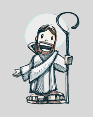 Jesus cartoon a
