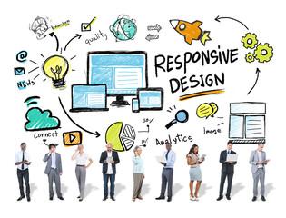 Responsive Design Internet Business People Technology Concept