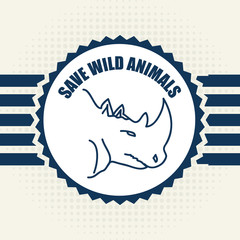 save the animals design