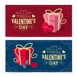 Saint Valentine's Day banners. - 76401567