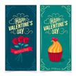 Saint Valentine's Day banners. - 76401582
