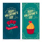 Saint Valentine's Day banners.