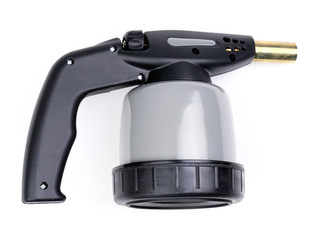 Manual gas burner isolated on white