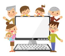 三世代家族とPC