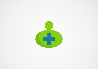 medical cross with mom logo vector