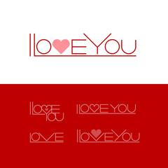 Short phrase I Love You