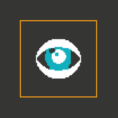 Simple stylish pixel eye icon. Vector design