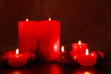 Burning candles for Valentine Day, weddings,events involving