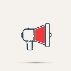 Simple stylish pixel speaker icon. Vector design