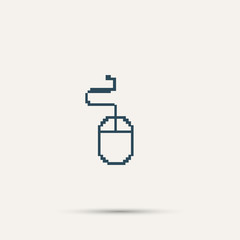Simple stylish pixel icon mouse. Vector design