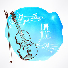 background with violin - 1
